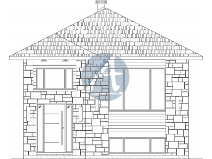 Plan de bungalow 19054A